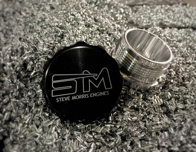 "1.5"" (38.1mm) Weld Neck and Anodized Oil Fill Cap"