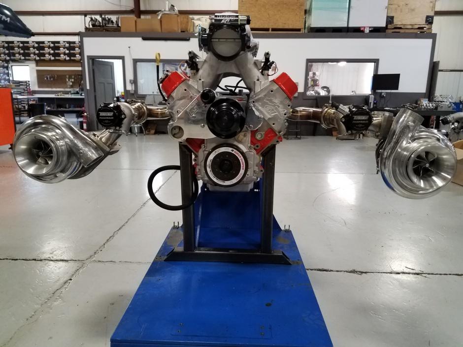 Steve Morris Engines LS Single Turbo Header And Crossover Kit