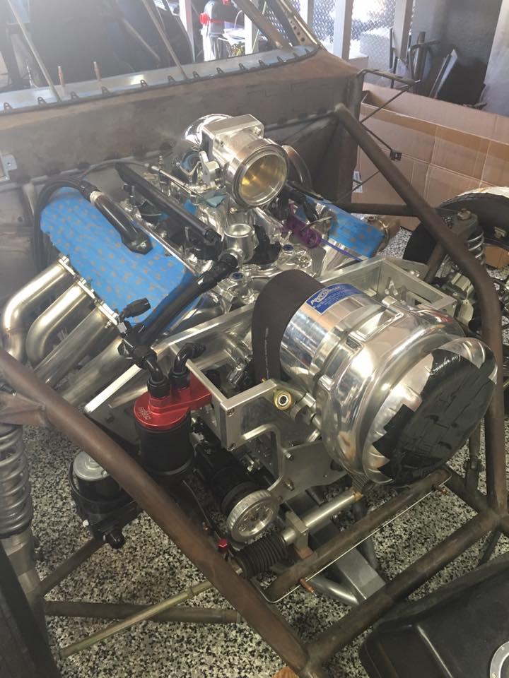 Reverse-Mounted Supercharger Brackets - Steve Morris Engines